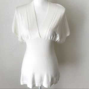 New Buffalo David Bitton White Blouse Size M